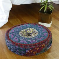 Indian Mandala Pouffe Footstool Bean Filled Cotton for Living Room or Bedroom