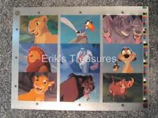Skybox Lion King Series 1 Foil Embossed Chase Cards F1-F9 UNCUT SHEET EX-NM!!