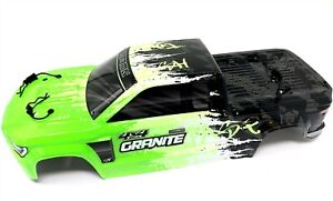 Arrma GRANITE 4x4 3s BLX - Body Shell (GREEN/Black painted decaled ARA4302V3