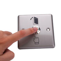 New Stainless Steel Doorbell Panel Wall Pad Button Momentary Switch Home