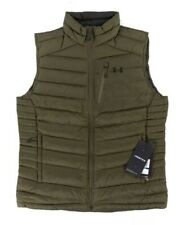 Under Armour Iso Down Vests Forest Green Pertex 700 Fill Power Zip $180 Mens XL