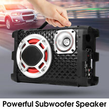 5'' Car Subwoofer Amplifier Under Seat Sub Super Bass HiFi Box Speaker Sub 60W