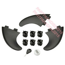 Surfboard Fins FCS Compatible Set of 3 G5 Fin Plugs Screws and Key Leash plug
