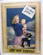 Original WWII poster  - FOR THEIR FUTURE- BUY WAR BONDS by Munsett