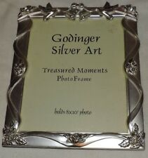 "Godinger Silver Art Photo Frame Holds 8x10"" photo (Silver Plated) Wedding Theme"