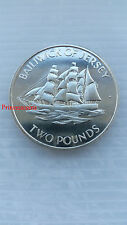 1972*UNC*STATE OF JERSEY SAILING SHIP ALEXANDRIA SILVER PROOF £2 TWO POUND COIN