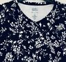 Croft & Barrow Knit Top - NWT Womens Long Sleeve Black & White Floral T-shirt
