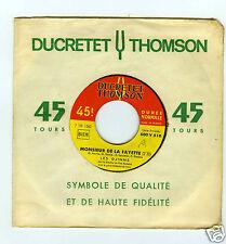 45 RPM SP LES DJINNS MONSIEUR DE LA FAYETTE / OHE LES GARS