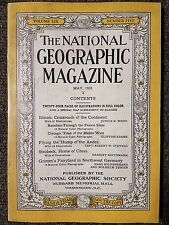 National Geographic Magazine May 1931 With Map of Illinois,  Northwest Germany