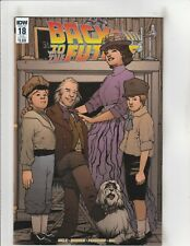 Back to the Future #18 NM- 9.2 Sub. Cover IDW Comics Marty,Biff,Doc