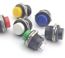 6x 2 Pin 16mm Momentary OFF/ON Push Button Car Boat Switch 6 Colours