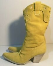 Made In Italy DIMOL1955 Size AU 7 / EUR 38 Women's Leather Suede Mid Calf Boots