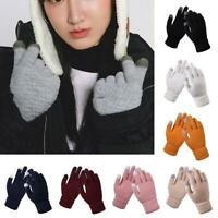 Women Stretch Knit Gloves Magic Winter Warm Wool Sensory Mittens