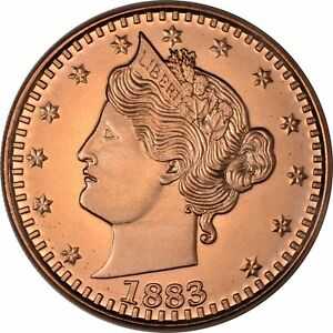 1 oz Copper Round - 1883 Liberty V