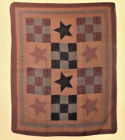 "Quilt Throw Prairie Star Design Cotton Blanket Cover Up 50"" x 60"" NEW"