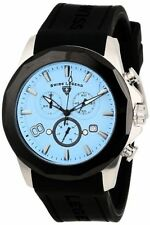Swiss Legend 10042-012-BB Mens Monte Carlo Chronograph Light Blue Textured Dial