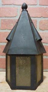 Antique p1925 Arts&Crafts Copper Brass Decorative Art Porch Lamp Light Sconce