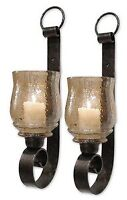 Uttermost 19311 Joselyn - 18 inch Small Candle Wall Sconce (Set of 2) - 6 inches