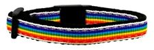 Mirage Pet Products Rainbow Nylon Ribbon Collar for Cat, Variety of Colors