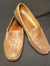 Johnston Murphy Passport Shoes Mens US 13M Weave Upper Loafer Brown Leather