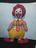 Vintage McDonald's Ronald McDonald stuffed doll 16 in