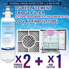 2x  LG REPLACEMENT FRIDGE WATER FILTER LT700P ADQ36006101 with  Air Filter