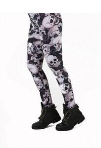 RILEY SKULL PRINT LEGGINGS (BLACK) Pamela Mann Size: S/M
