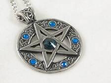 Celtic Pentagram Pewter  Pendant set with Swarovski crystals