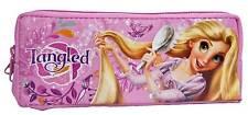 Disney Princess Tangled Rapunzel 2 Zipper School Pencil Case Cosmetic Bag Pink