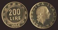 200 LIRE 1986 FONDO SPECCHIO FS PROOF - FIOR DI CONIO FDC/UNC
