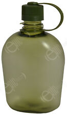 Transparent Green WATER BOTTLE - 1 Litre Modern Military Style Drinking Canteen