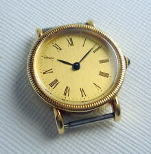 LADIES NEW OLD STOC SWISS  RAX MOVEMENT MANUAL WIND PLAQUE GOLD CASE 24 MM