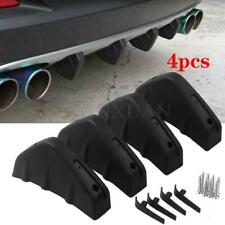 4PCS Rear Bumper Diffuser Fin Spoiler Lip Wing Splitter Universal Matt Black new