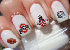 Ohio State Nail Art Stickers Transfers Decals Set of 38