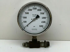 "Noshok 5000PSI Pressure Gauge, 6"" Diameter"