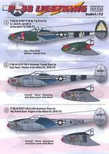 Print Scale Decals 1/72 LOCKHEED P-38 LIGHTNING Fighter