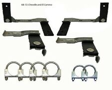 Chevelle El Camino Exhaust Hanger Clamp Kit BB Malibu 68 69 70 71 72 big block