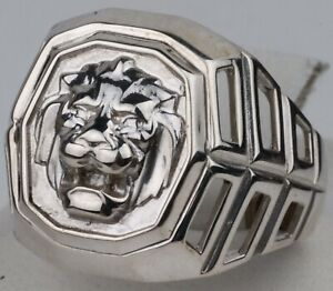 Ring STERLING Silver 925 Tiger LION Animal GIFT Brutal JEWELRY Ukraine Size 10.5