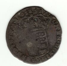 Rare 1693 Pau, Bearn billon sol of 15 deniers