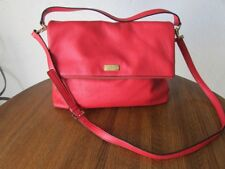 KATE SPADE XTRA LARGE RED LEATHER COBBLE HILL CROSSBODY BAG