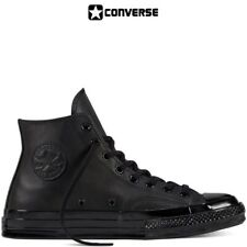 Scarpe Converse All Star Nere Monochrome  in Pelle Classic Black Total Black