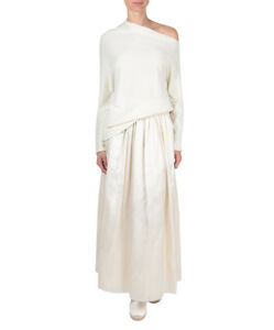 NEW The ROW SET of IVORY Nandac Off The Shoulder TOP & Lea SKIRT XS 0