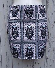 Muñeca Rusa cráneo Mini falda tamaño 12 14-ceñido al cuerpo de Azúcar Caramelo Pistola De Terror