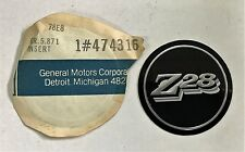 "ORIGINAL GM NOS 1978 1979 * Z28 * 15"" TURBINE WHEEL HUB CAP INSERTS PAIR 474316"