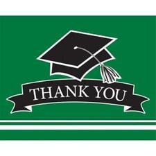 Graduation School Spirit Green Thank You Cards 25 per Pack