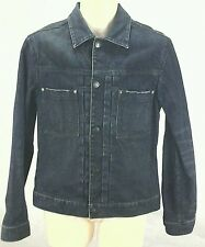 CLUB MONACO Vintage Inspired Dark Wash Denim Jacket Mens Sz. Small S