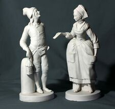 Pair Paris Porcelain Sevres Style Bisque Parian French Figurines The Love Letter