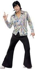 Smiffys - Costume da Superstar anni 70 Incl. Camicia Psichedelica e Pantaloni a