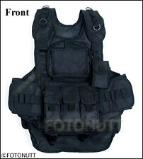 New!! BLACK 4+1 Scenario WOODSBALL TACTICAL Paintball VEST