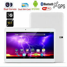 "10.1"" Tablet PC Android 4.4 Bluetooth 16GB Quad Core 3G UNLOCKED GPS Dual Sim"